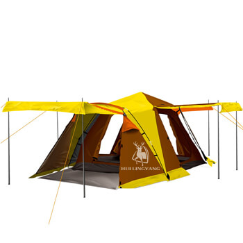One bedroom double layer camping tent for four people H30