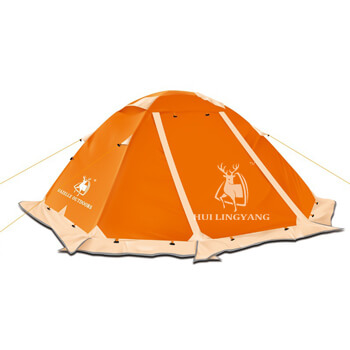 Double man double layer snow skirts camping tent H23