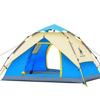 3-4 person hydraulic automatic double layer combo tent H001