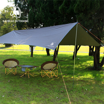 Iron pole silver coating anti UV ultralight waterproof tarp H41