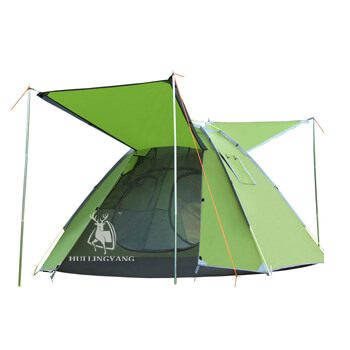 3-4 man double layer automatic speed-open pop up tent H15