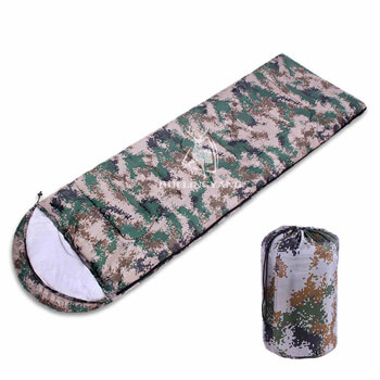 Single envelope digital camouflage sleeping bag H89