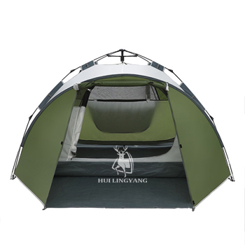 Large Space Double Layer 3-4 person Hydraulic Automatic Waterproof Tent H32